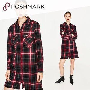 Zara Long Flannel Tunic